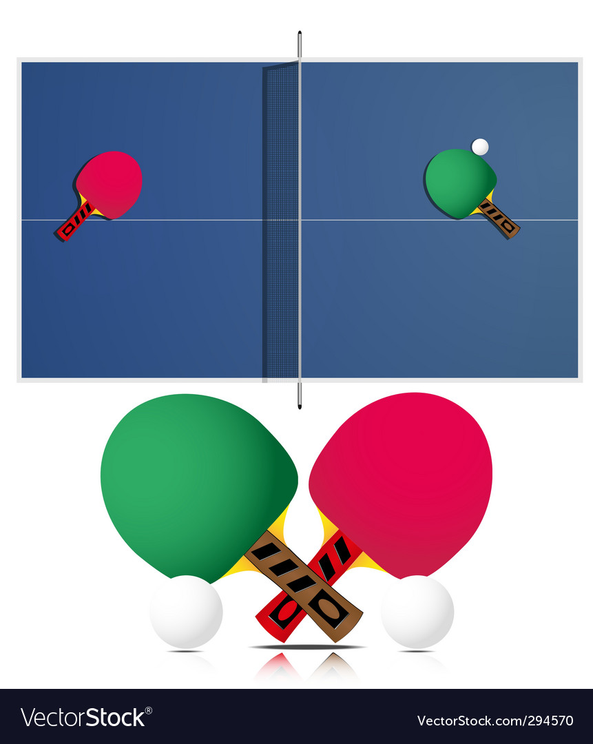 Ping pong table and rackets vector | Price: 1 Credit (USD $1)