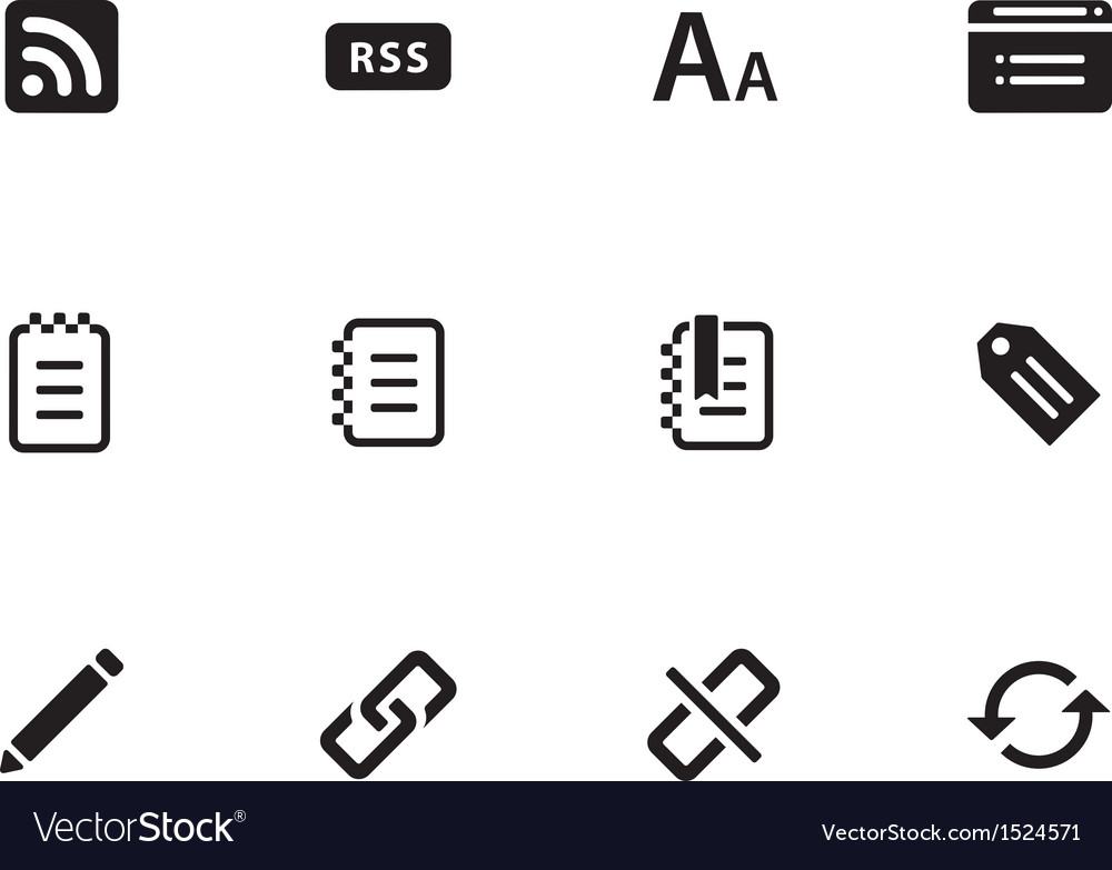 Blogger icons on white background vector | Price: 1 Credit (USD $1)