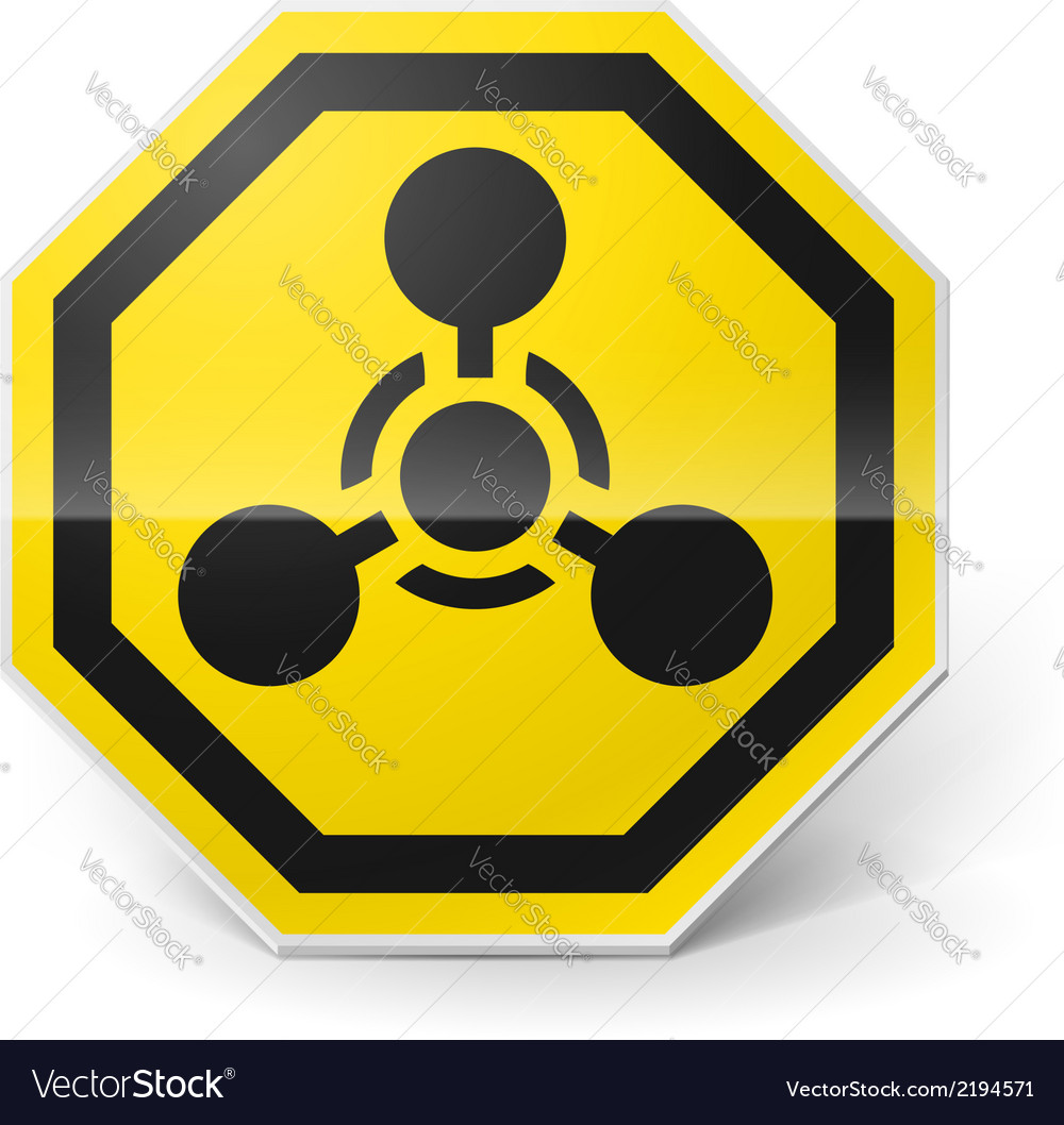 Chemical weapon sign vector | Price: 1 Credit (USD $1)