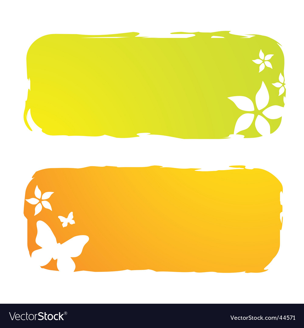 Grunge floral banners vector | Price: 1 Credit (USD $1)
