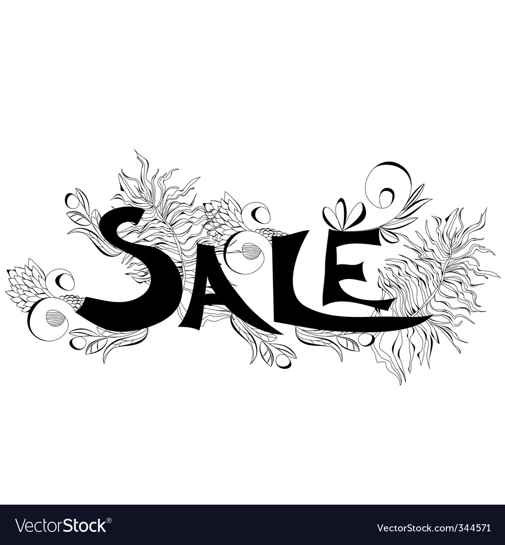 Inscription sale vector | Price: 1 Credit (USD $1)