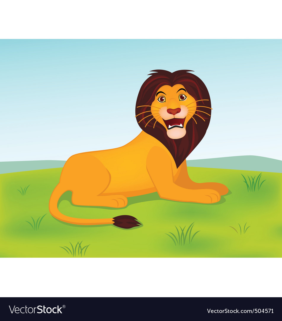 Lion cartoon vector   Price: 1 Credit (USD $1)