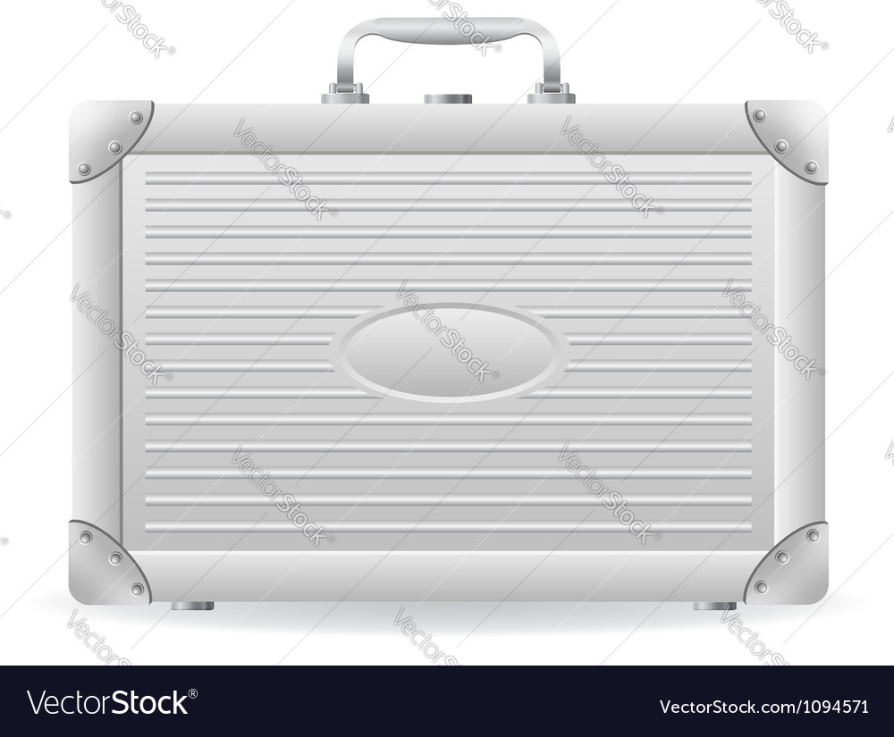 Metallic briefcase 01 vector