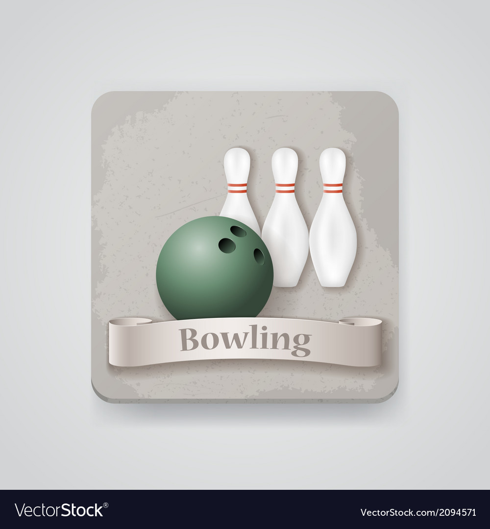 Skittles and ball for bowling game icon vector | Price: 1 Credit (USD $1)