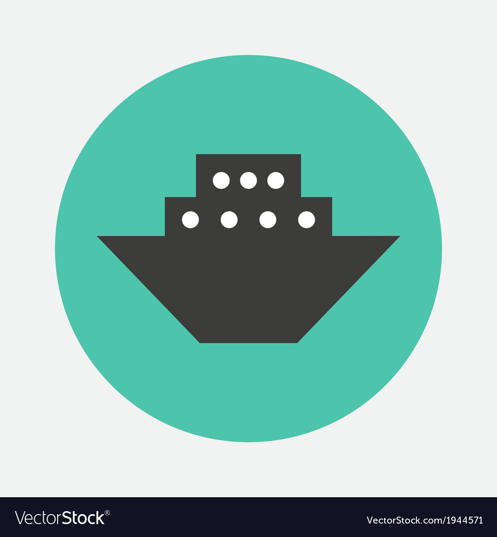 Steamboat icon vector | Price: 1 Credit (USD $1)