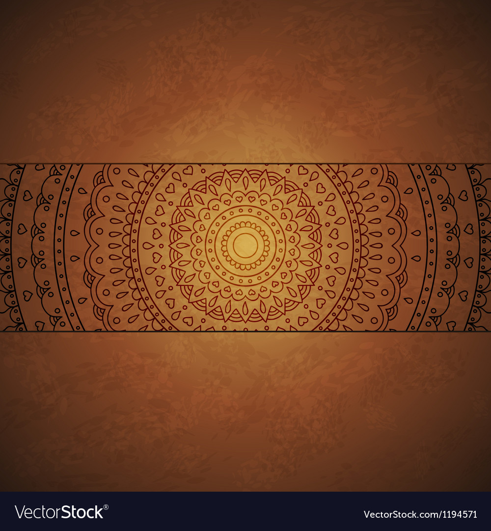 Vintage mandala ornament cover vector | Price: 1 Credit (USD $1)