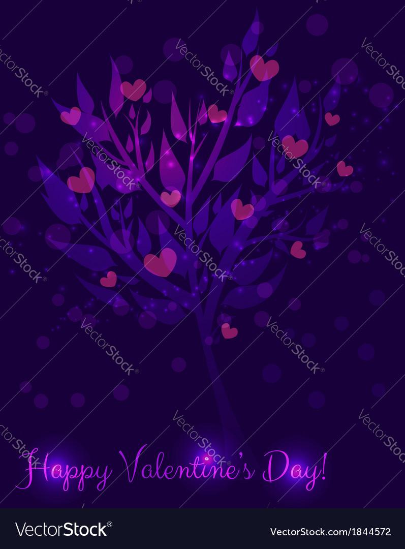 Abstract valentine tree vector | Price: 1 Credit (USD $1)