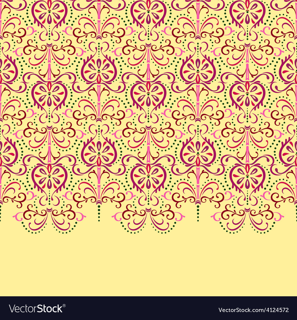 Background eastern floral vector | Price: 1 Credit (USD $1)