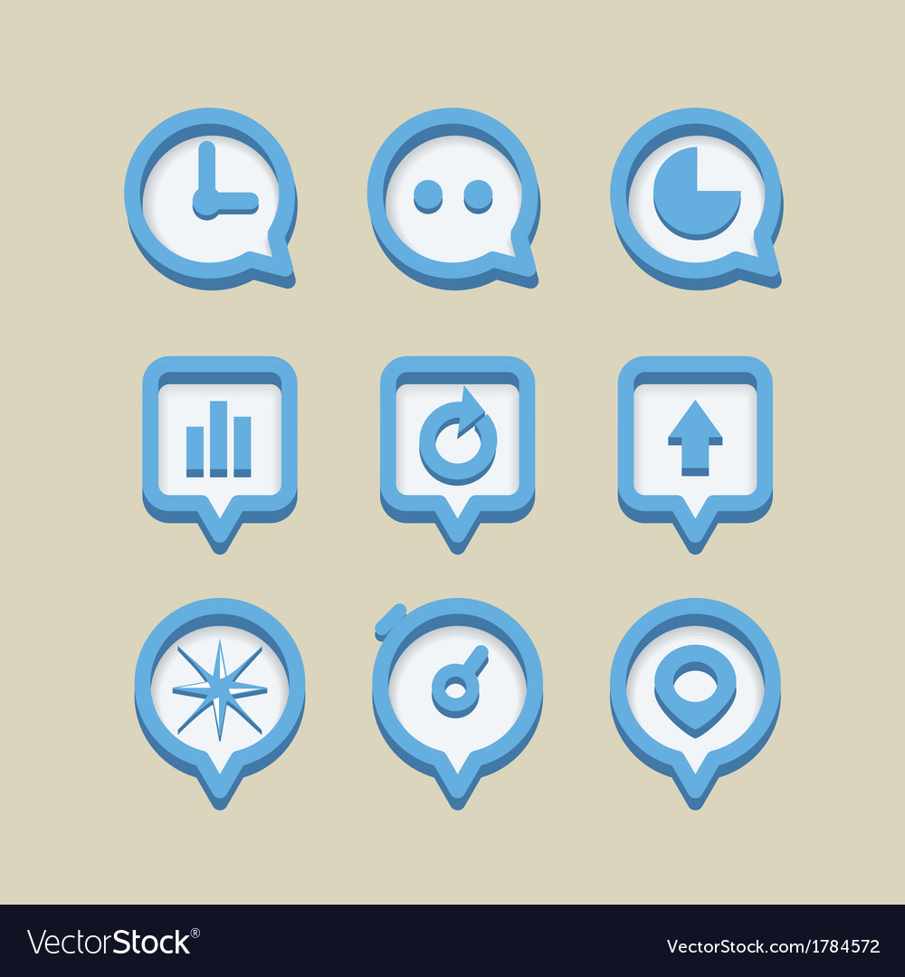 Collection of different web icons vector | Price: 1 Credit (USD $1)