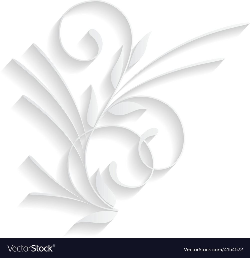 Element of paper ornament vector | Price: 1 Credit (USD $1)