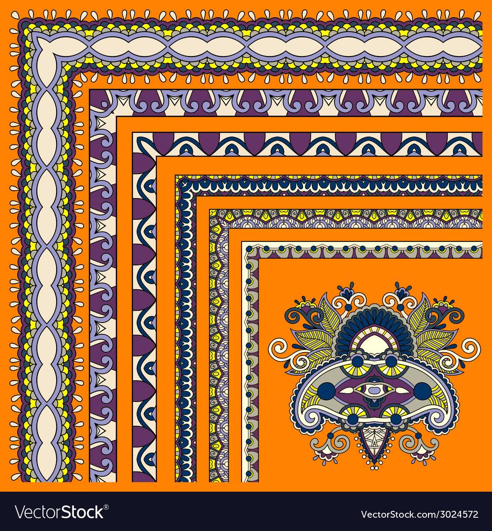 Floral vintage frame design set all components are vector | Price: 1 Credit (USD $1)