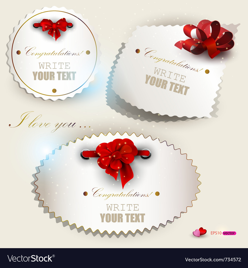 Gift label set vector | Price: 1 Credit (USD $1)