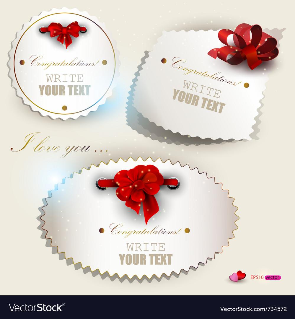 Gift label set vector | Price: 1 Credit (USD $1)