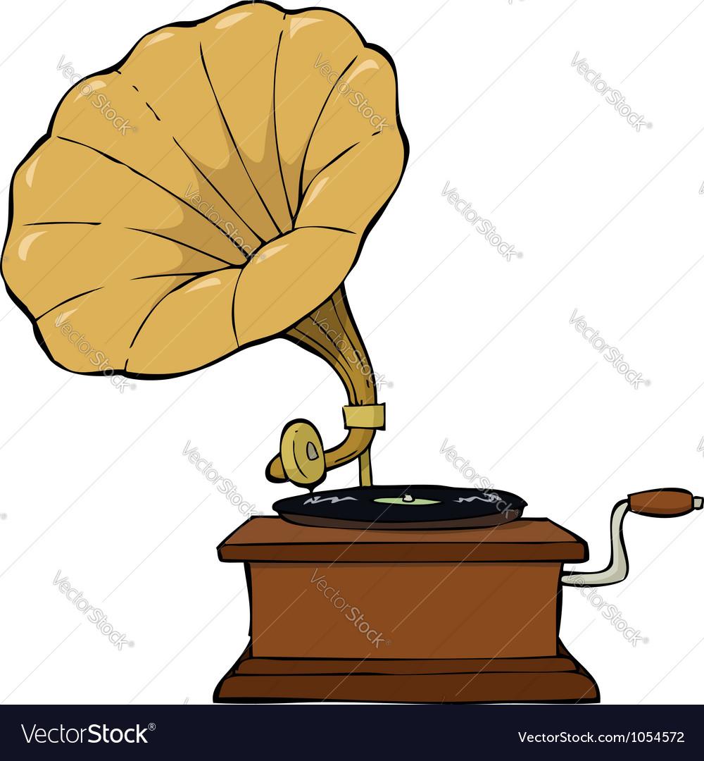 Gramophone vector | Price: 1 Credit (USD $1)