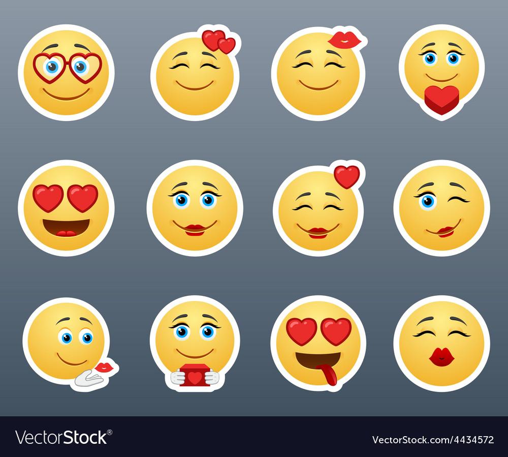 Lovers smilies vector   Price: 1 Credit (USD $1)