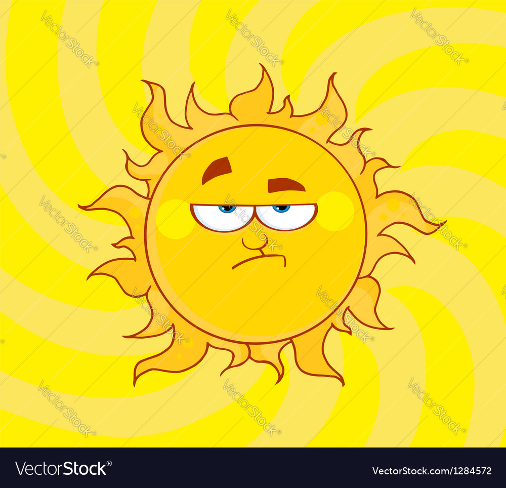 Lowering sun shining vector | Price: 1 Credit (USD $1)