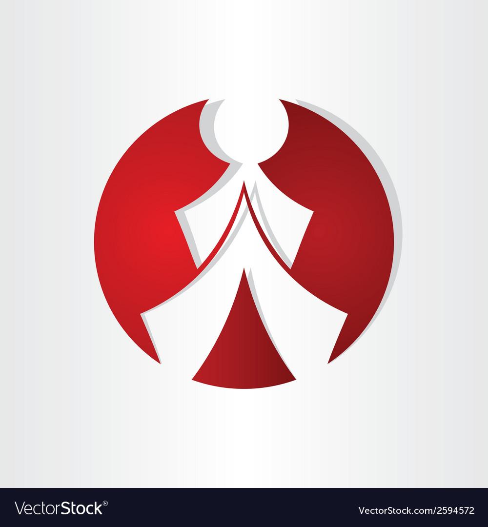 Men walking icon design vector | Price: 1 Credit (USD $1)