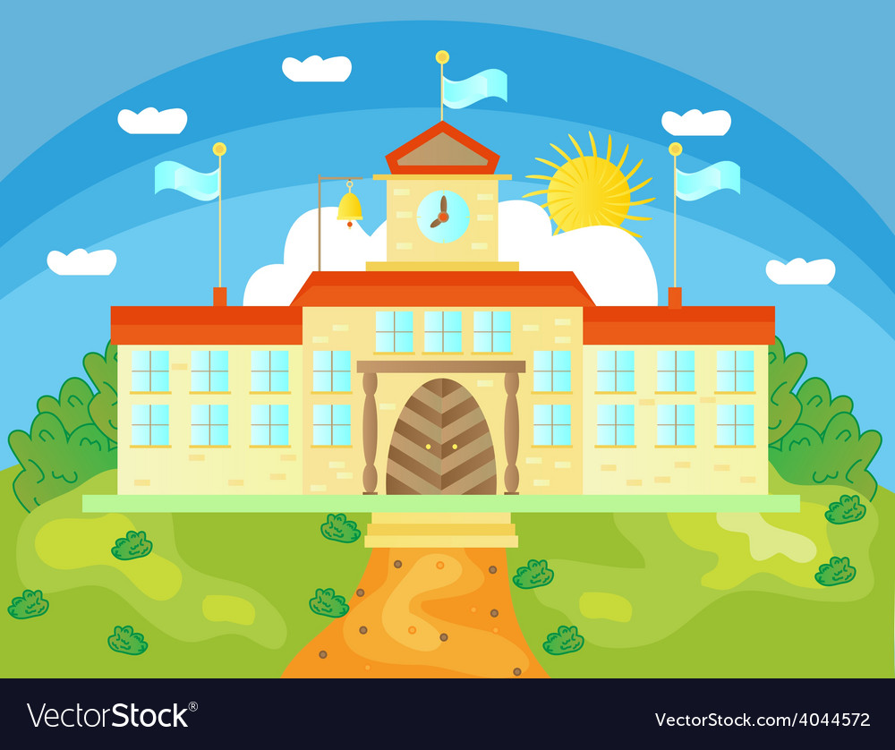 Picture of school buildings vector | Price: 1 Credit (USD $1)