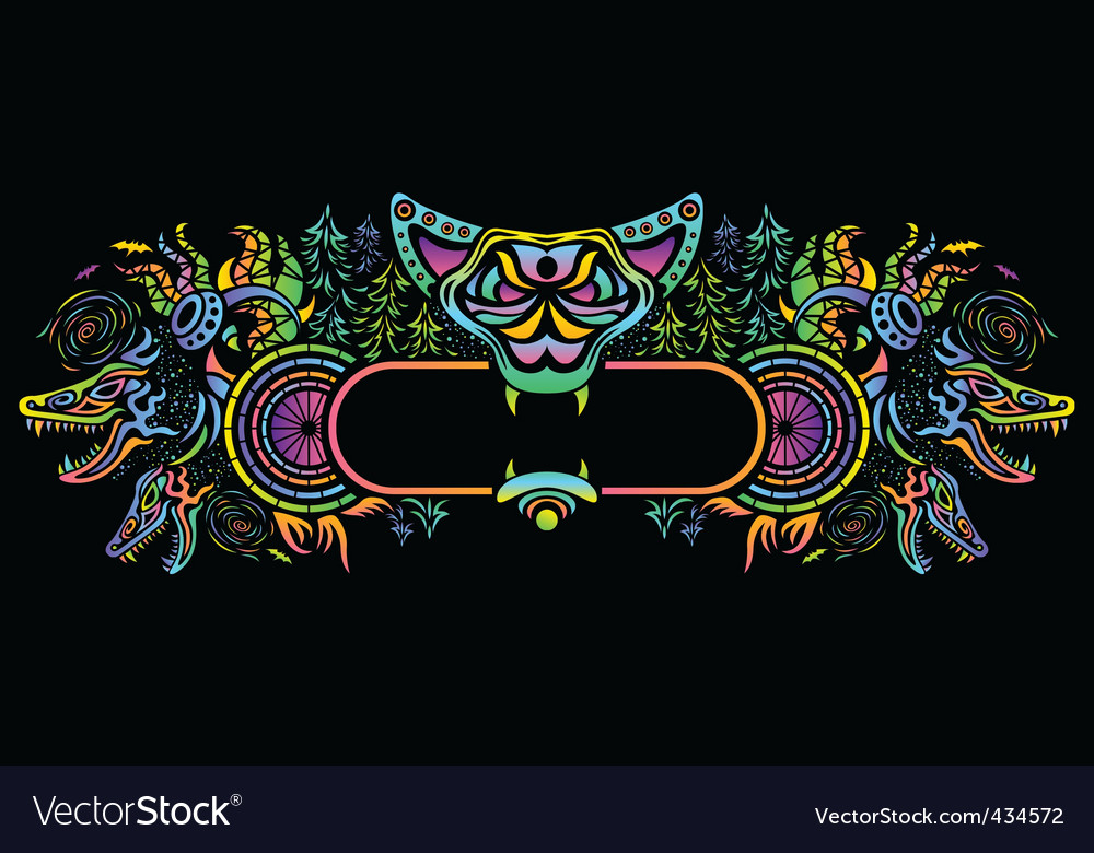 Psychedelic flyer illustration vector | Price: 1 Credit (USD $1)