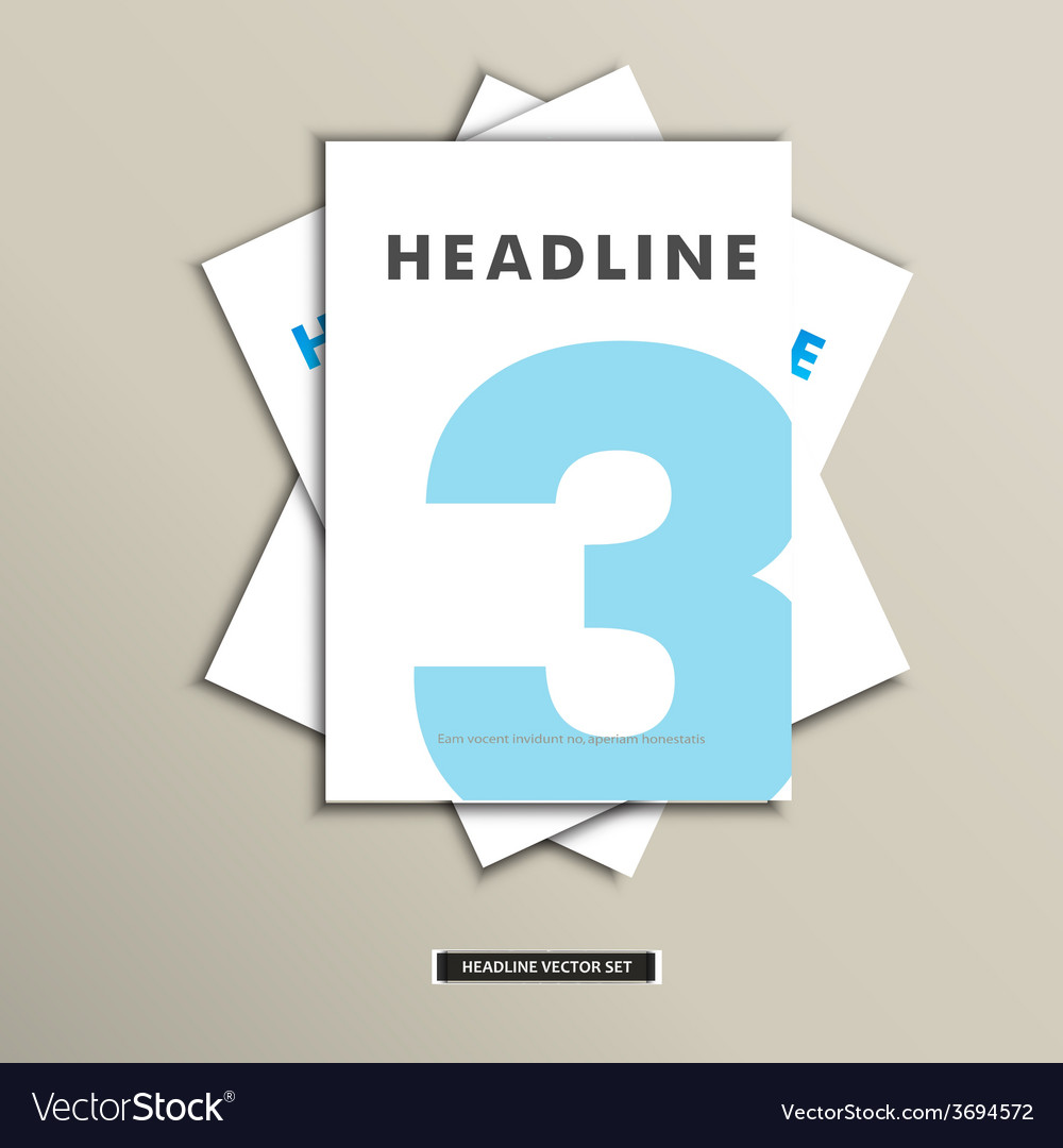 Set of brochures with number on title page vector   Price: 1 Credit (USD $1)
