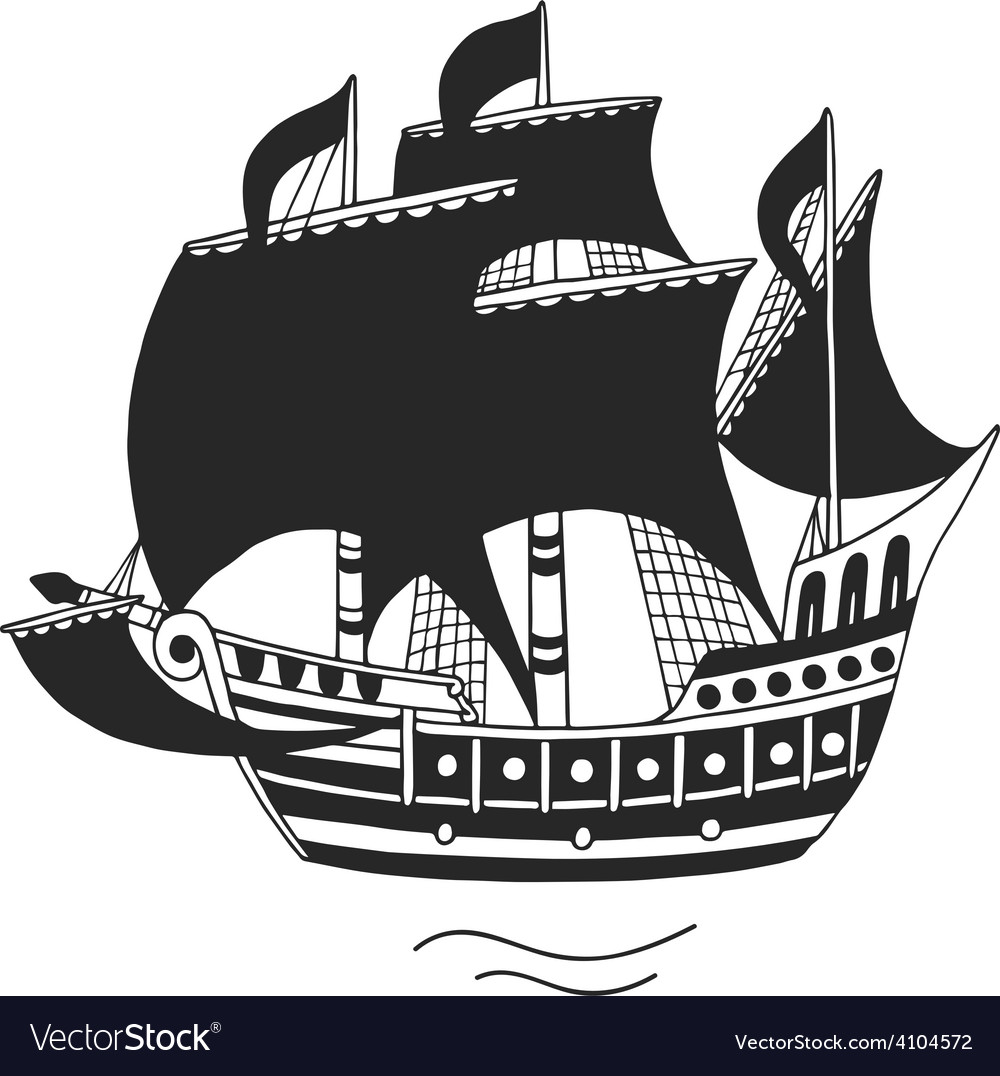 The ship logo or emblem for companies vector | Price: 1 Credit (USD $1)