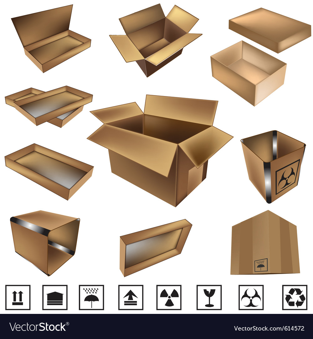 Shipping boxes and icons vector | Price: 1 Credit (USD $1)