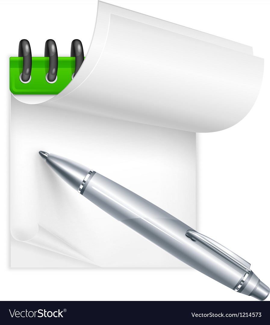 Ballpoint pen and notebook vector | Price: 3 Credit (USD $3)