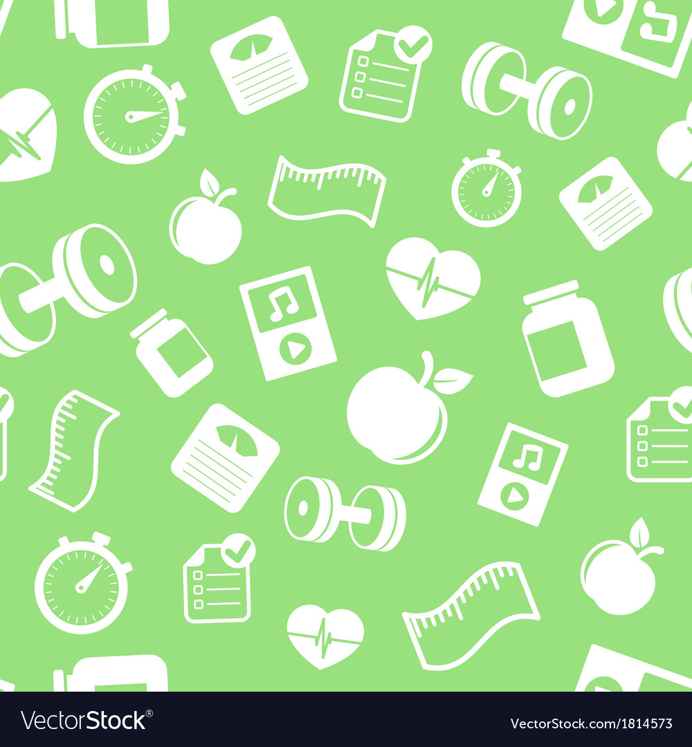Fitness elements seamless pattern vector | Price: 1 Credit (USD $1)