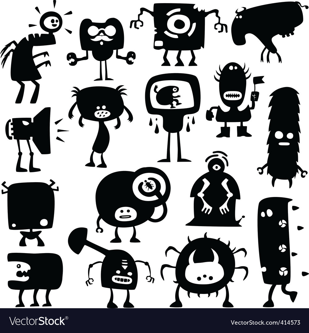 Funny monsters vector | Price: 1 Credit (USD $1)