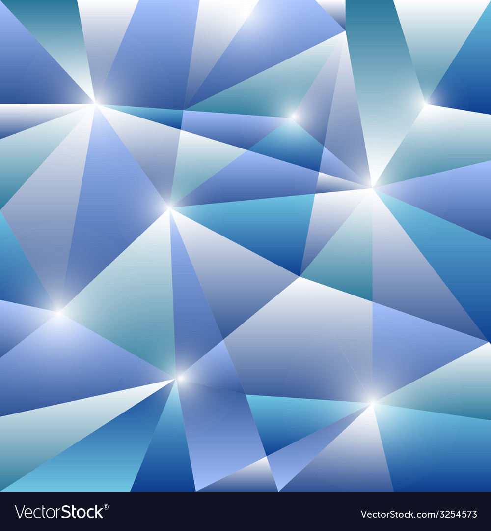 Geometric pattern with blue triangles background vector | Price: 1 Credit (USD $1)