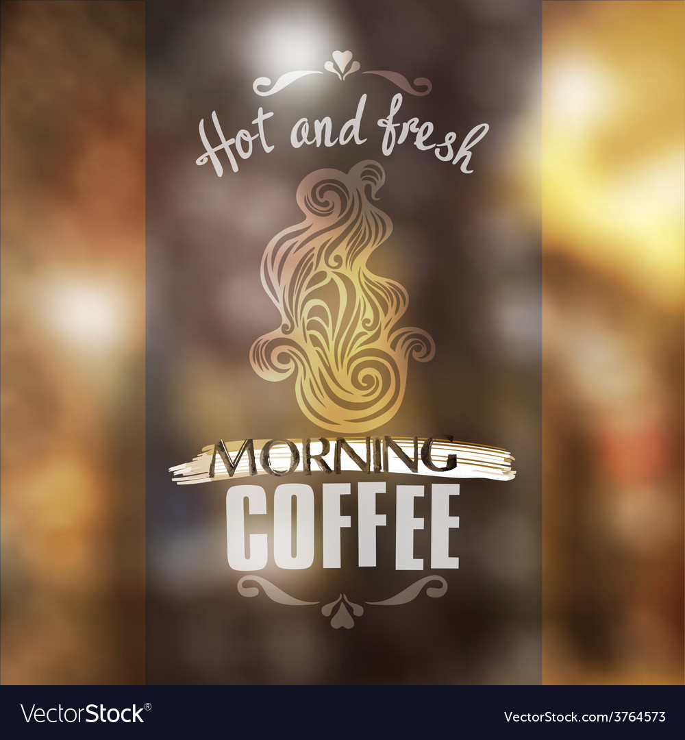 Hot fresh coffee showcase mockup vector | Price: 1 Credit (USD $1)