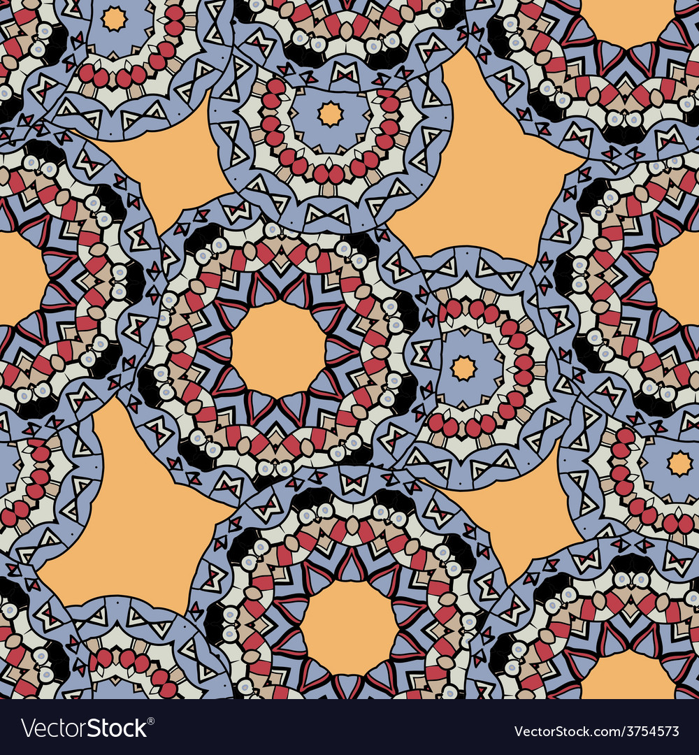Indian ornament kaleidoscopic flora pattern vector | Price: 1 Credit (USD $1)