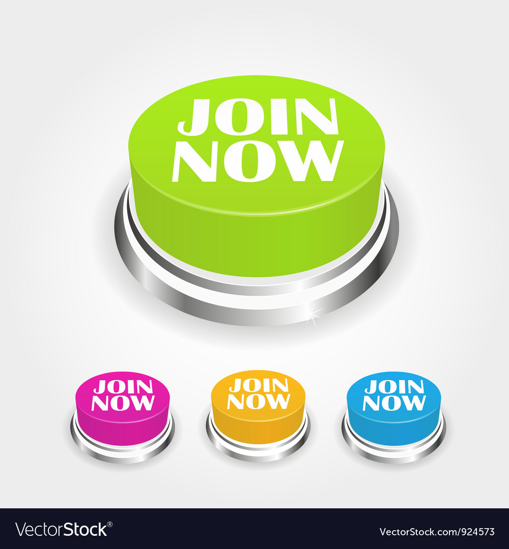 Join now button vector | Price: 1 Credit (USD $1)