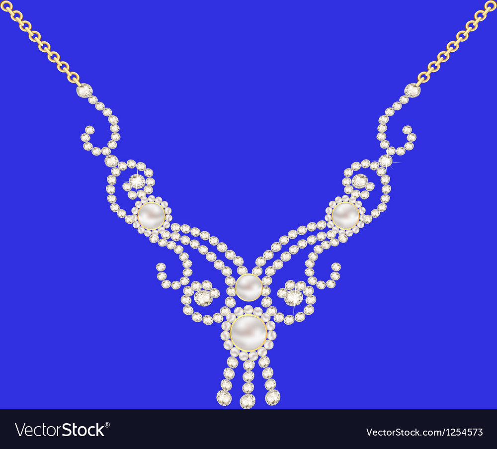 Necklace women for marriage with pearls and precio vector | Price: 1 Credit (USD $1)