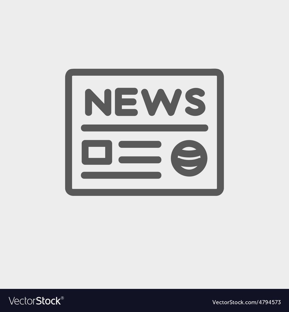 Newspaper thin line icon vector | Price: 1 Credit (USD $1)
