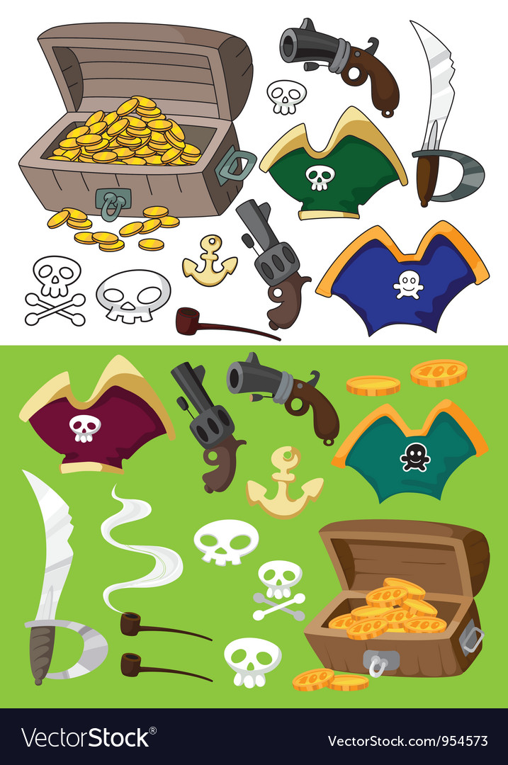 Pirate set vector | Price: 3 Credit (USD $3)