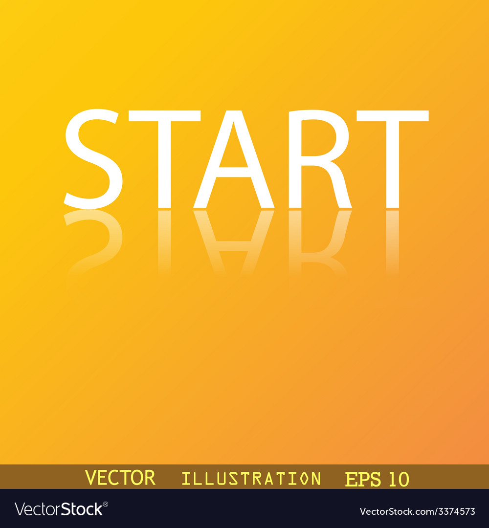 Start icon symbol flat modern web design with vector | Price: 1 Credit (USD $1)
