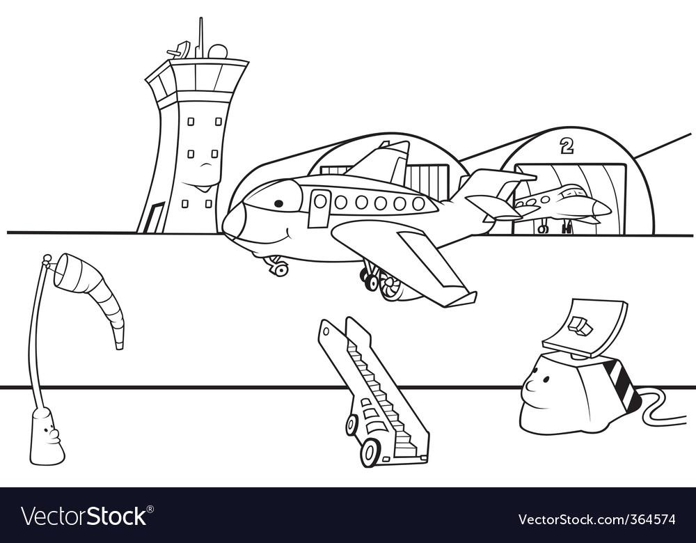 Airport runway vector   Price: 1 Credit (USD $1)
