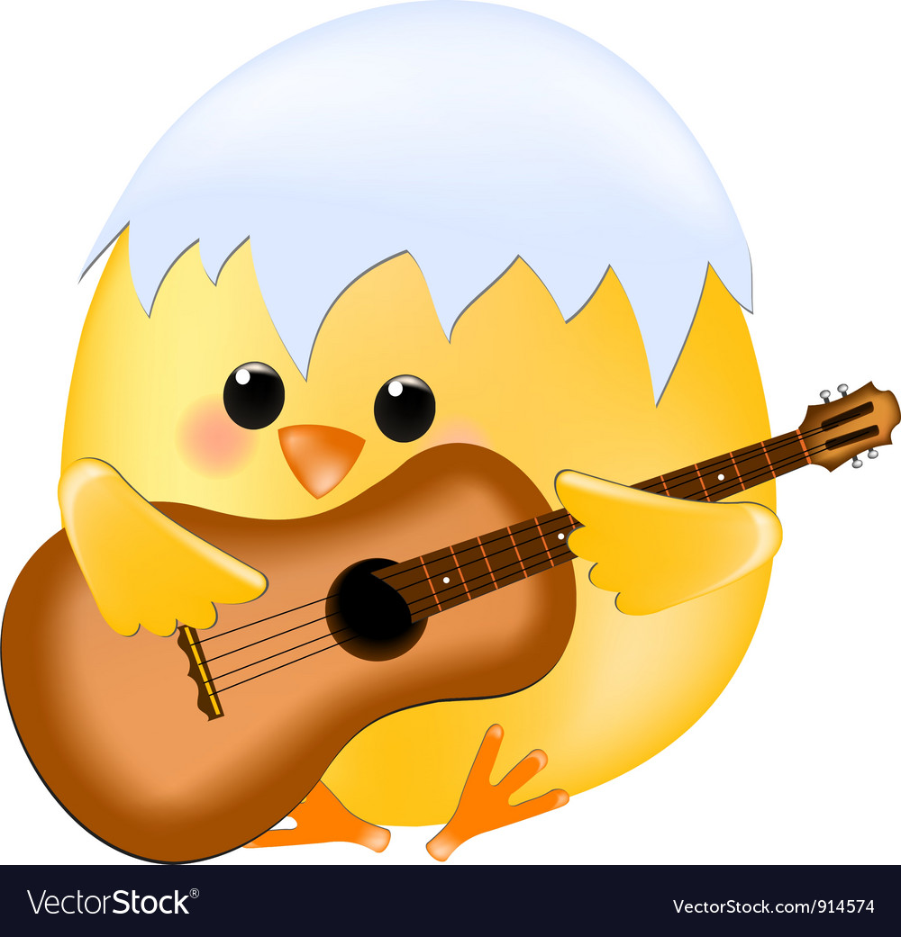 Chick with guitar vector | Price: 1 Credit (USD $1)