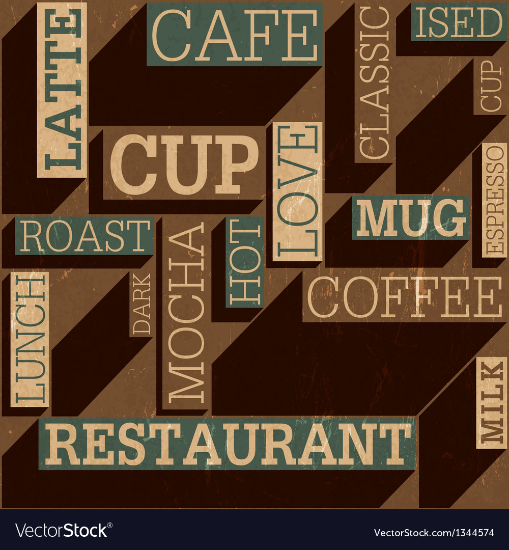 Coffee themed background seamless vector | Price: 1 Credit (USD $1)