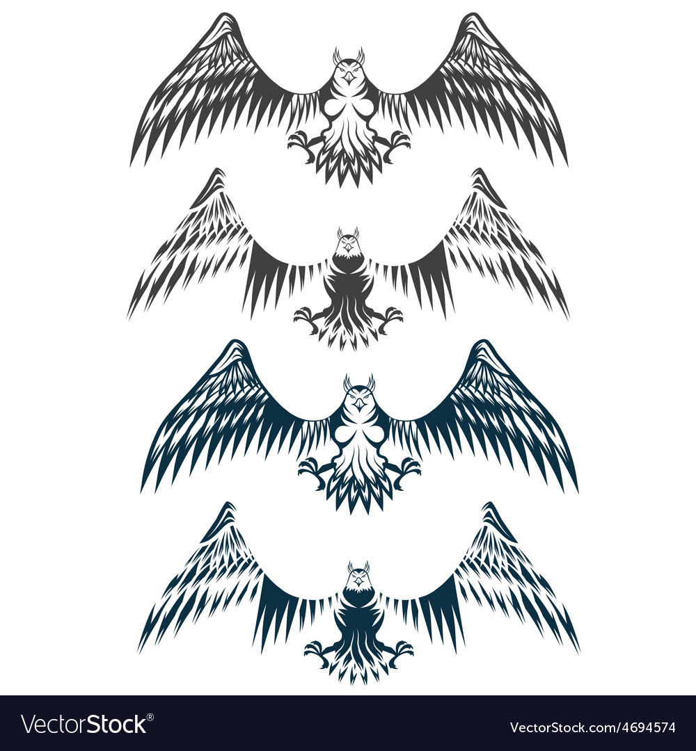 Eagles set design template vector | Price: 1 Credit (USD $1)