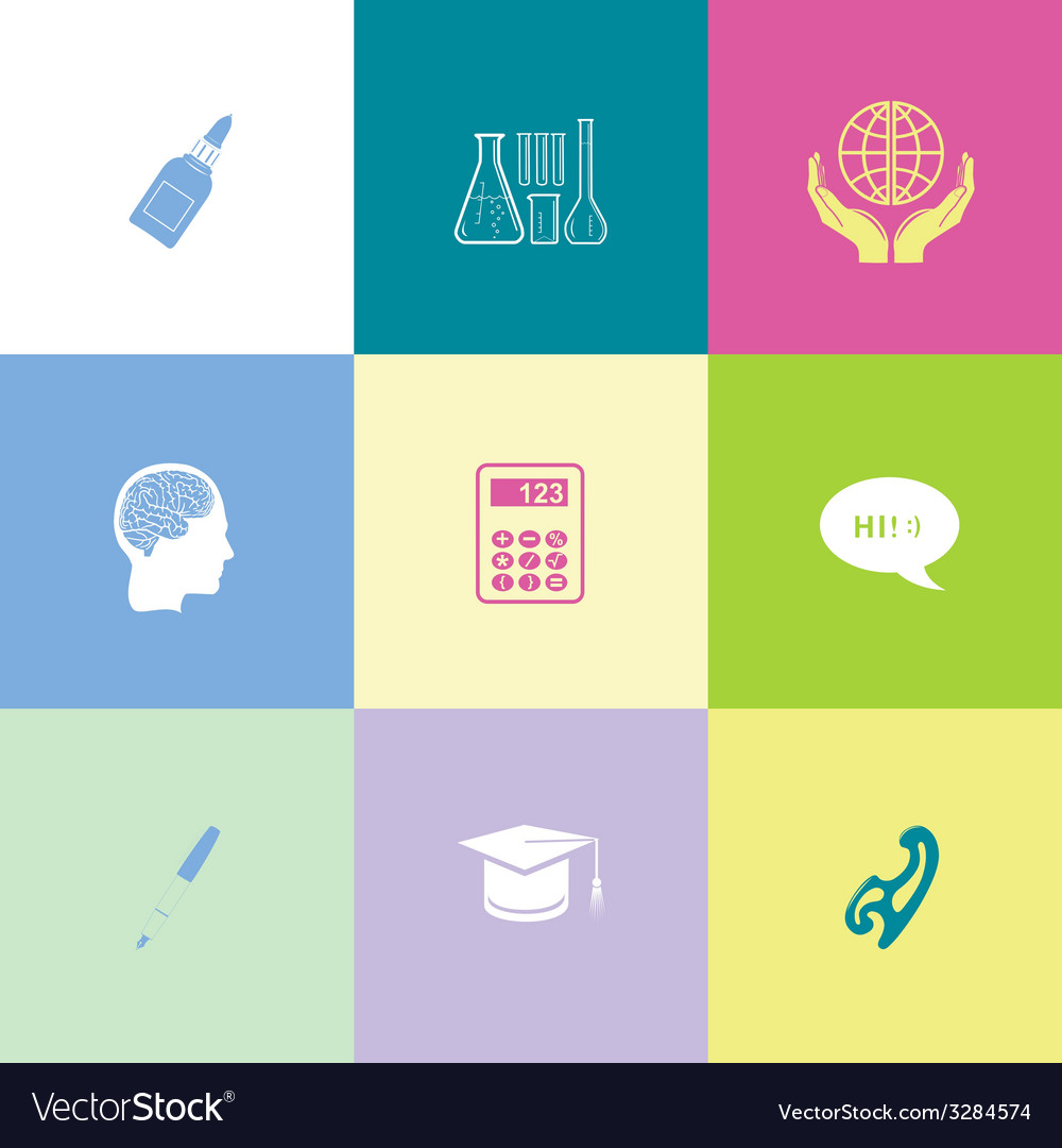 Education set vector | Price: 1 Credit (USD $1)