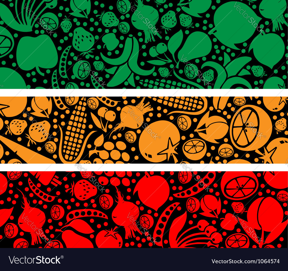 Fruits and vegetables pattern vector   Price: 1 Credit (USD $1)