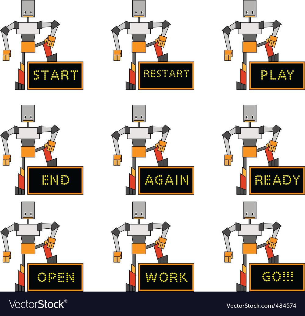Funky robots vector   Price: 1 Credit (USD $1)
