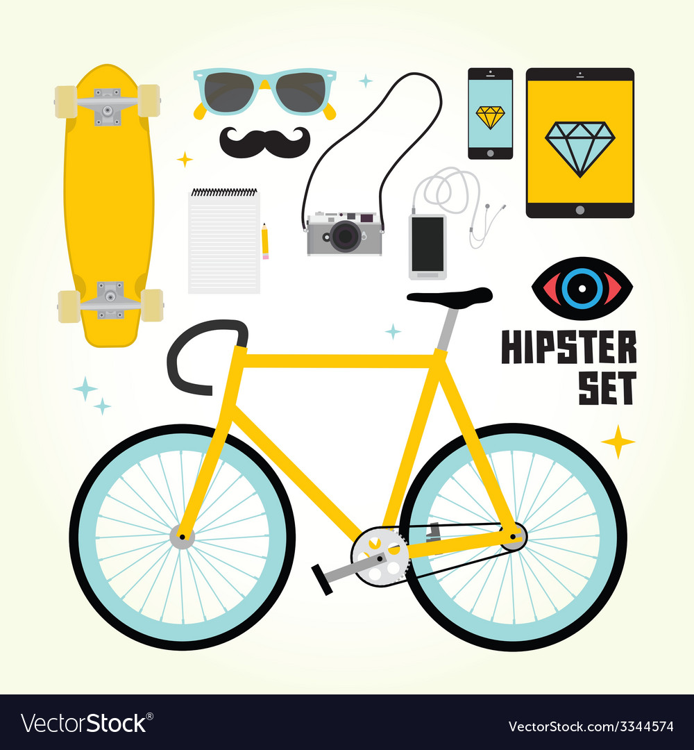 Hipster mast have objects vector | Price: 1 Credit (USD $1)