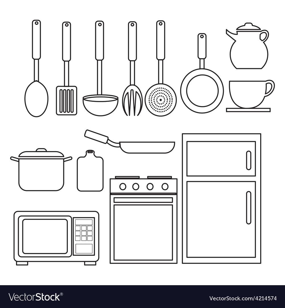 Kitchen design vector | Price: 1 Credit (USD $1)