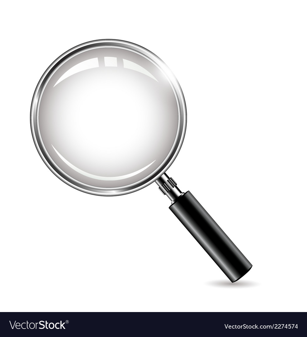 Metal magnifying glass for you design vector | Price: 1 Credit (USD $1)