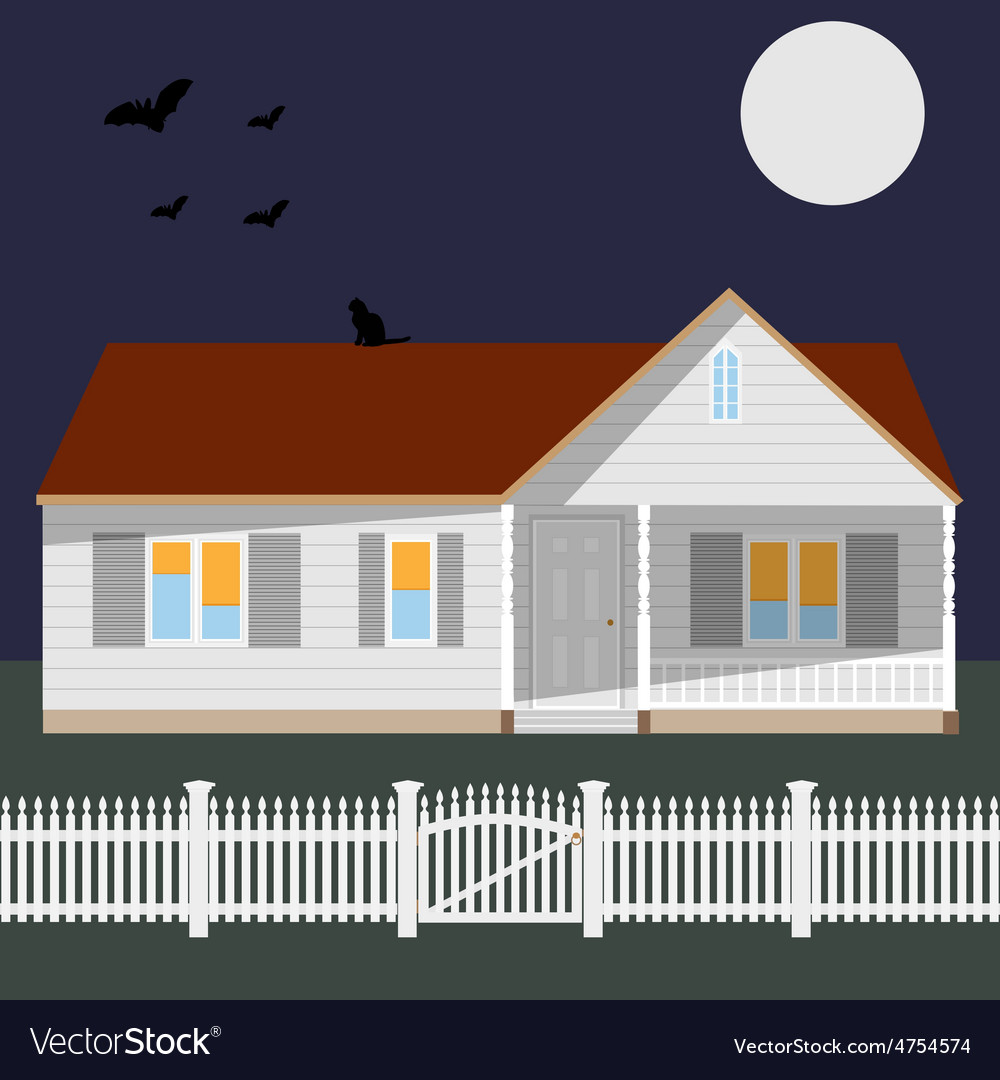Night house vector | Price: 1 Credit (USD $1)