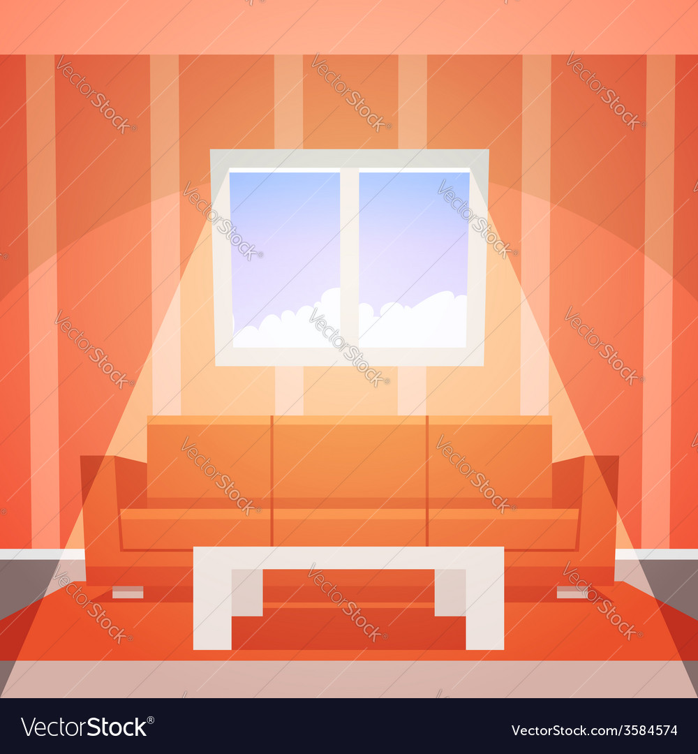 Room with window vector | Price: 3 Credit (USD $3)