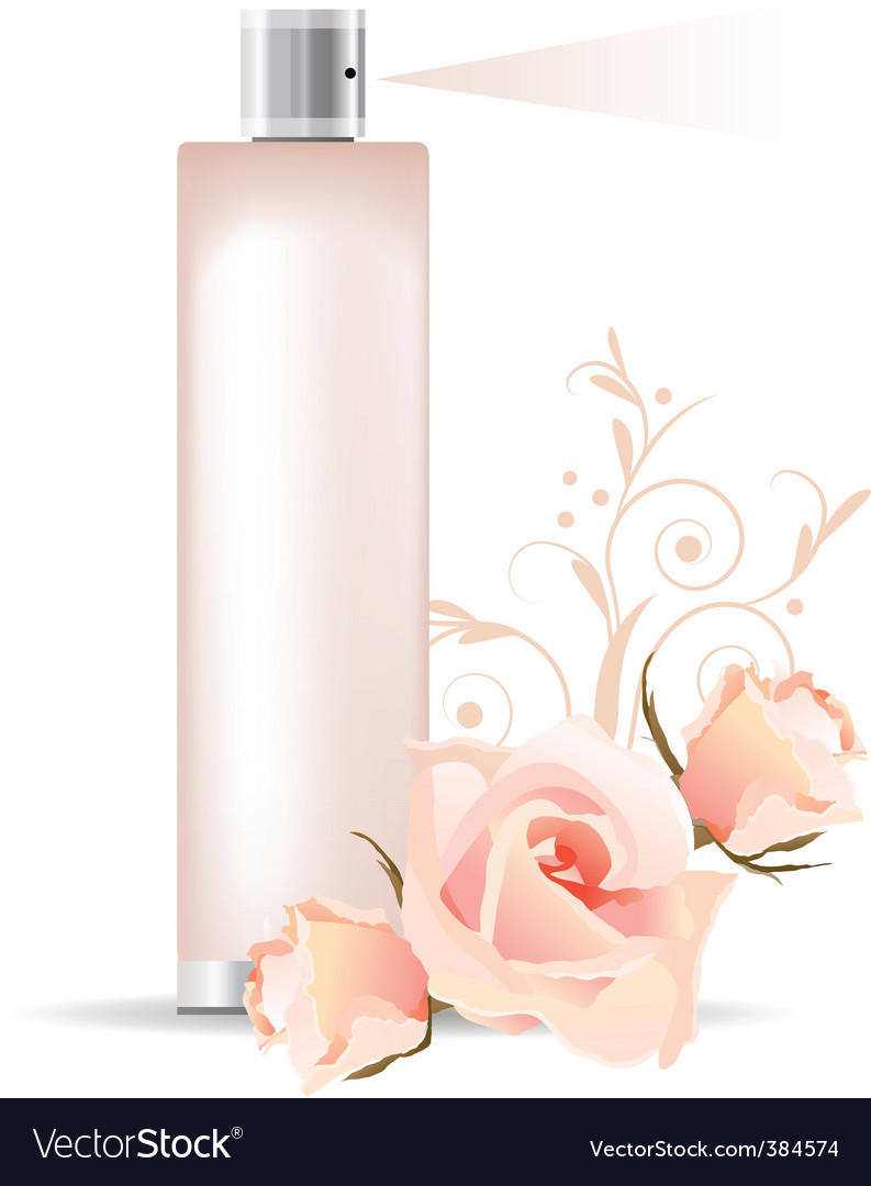 Rose perfume vector | Price: 1 Credit (USD $1)